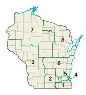 Wisconsin Districts Map