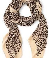 Leopard Print Bryant Park Scarf