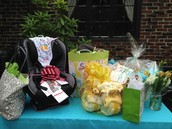 The Beautiful Baby Shower Gift Table!