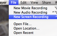 Go to File-> New Screen Recording