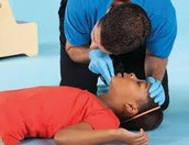 Checking an injured or ill child or infant
