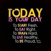 Everyday is a great day to start again!
