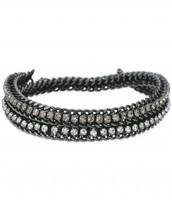 Hematite Cupchain Double Wrap Bracelet