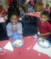 Having Fun at our Valentines Party