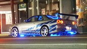 Nissan Skyline R34 in 2 fast and 2 furious