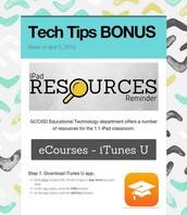 iPad Resources Reminder