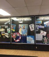 Honoring Ronald  McNair and his dedication to space exploration at McNair Jr. High School