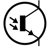 Circuit diagram of a phototransistor