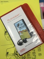 Playaways are a big hit! Fourth graders are allowed to check these out currently with signed permission slips. Teachers may check these out as well.