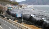 a tsunami's destruction