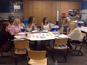 Staff collaboration during PLC days!  We have one hardworking staff!