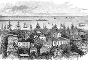 Sketch drawing of the beautiful coastal colony