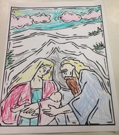 Abraham, Sarah, and Baby Isaac