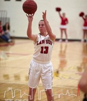 Mikayla Greene focuses on a free throw attempt versus Ex.Springs