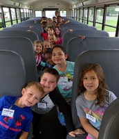 Mrs. Rodriguez's class learning about bus safety