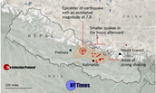 Map of Nepal Earthquake