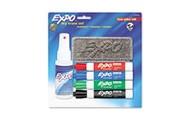 EXPO® Low Odor Dry Erase Marker Starter Set, Assorted, 4/Set