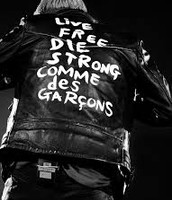 Comme des Garcons Live Free Die Strong
