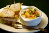 El sandwhich y la sopa