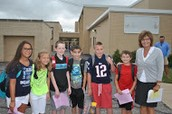 5th grade students looking forward to a new school year!