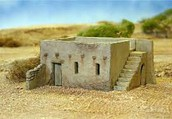 Mud brick houses