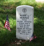 Audie Murphy's gravestone
