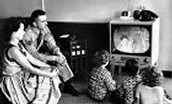 TV family viewing increased dramatically in the U.S. during the 1950's