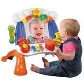Baby mirror with toys