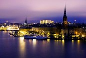 stockholm's evening view
