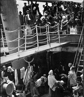 This was a picture of the steerage that Alfred Stieglitz took. It was Alfred's signature work.