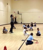 Mrs. Mitchell-Jones Giving Instruction