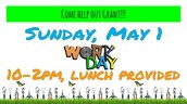Campus Beautification Kick-off Party – Sunday, May 1, 10am- 2pm