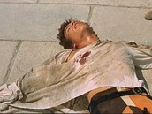 Tybalt lying dead from Romeo