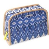 BEAUTY BAG - INDIGO IKAT $16 (55% off)