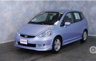 2008 Honda Fit Sport Sedan; blue