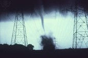 A forming tornado