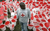 Who supports the Red Cross?