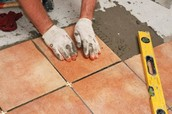 Tile flooring installation and material