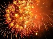 Calcium in fireworks