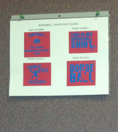 T-shirt Designs for the dodge ball tournament