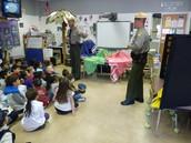 NC State Park Rangers visit kindergarten
