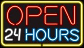 We are open 24/7