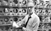 B. F. Skinner with Test Birds