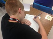 Bow-Tie Fleming's Students Writing