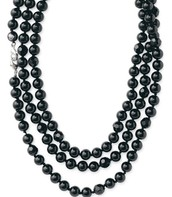 Jet Faceted Necklace $30.00