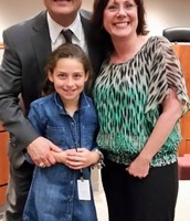 Dru being recognized at the school board this week!