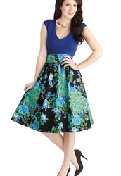 Flair for the Fantastic Skirt in Peacock