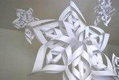 Fourth and Fifth Grades Paper Snowflakes