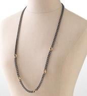 Hematite chain necklace