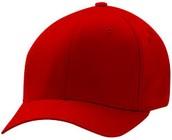 gorra de béisbol rojo